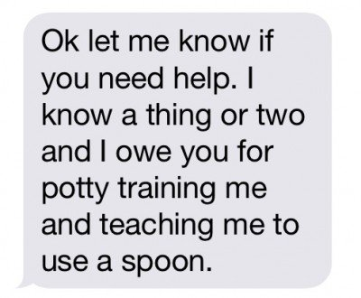 Son offering to help mom with technology - parenting humor