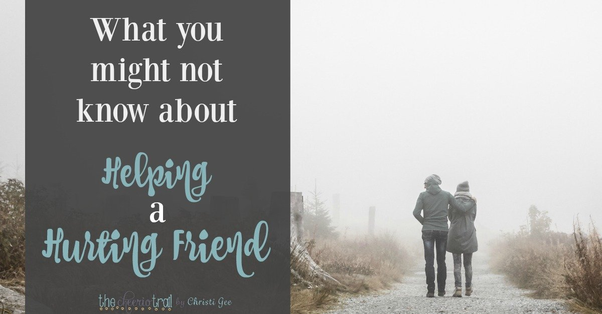 Learn 3 foundational philosophies and 5 practical points you might not know about helping a hurting friend. It's not all obvious. If you've never been on the other side, there are things you don't know. But this is some of what the hurting want you to know. And remember this: You matter. To a hurting friend, your friendship is everything.