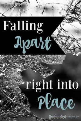 Encouragement for anyone facing pain, trials, and feeling broken. God's Word reminds us He is always doing a new thing. Sometimes when things are falling apart, they are actually falling right into place. Scripture quotes for the discouraged heart.