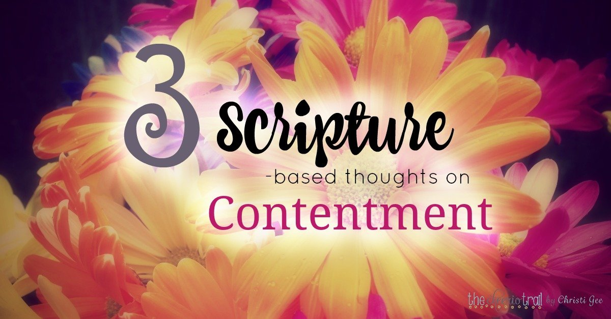 "How do you grow in the grace of contentment? Here are 3 Scripture-based thoughts for pursuing joy, seeking God, and finding satisfaction in Jesus. Psalm 23 says, ""I shall not want"" and Paul's words in the Bible give us some insight as well. Encouragement and inspiration for Christians."