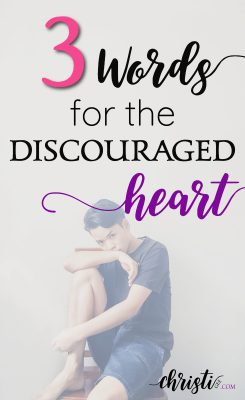 Let this 3-word prayer restore a reality grounded in truth if you're feeling discouraged. Overcoming discouragement with Faith-filled hope, Biblical encouragement, inspirational quotes, Scripture truth, and prayer for strength