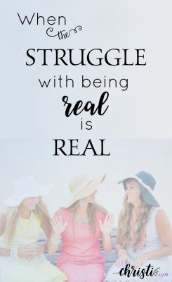 How can we be more real — transparently walking with Jesus and doing life with each other? Christian encouragement, Christian living, friendships, Scripture