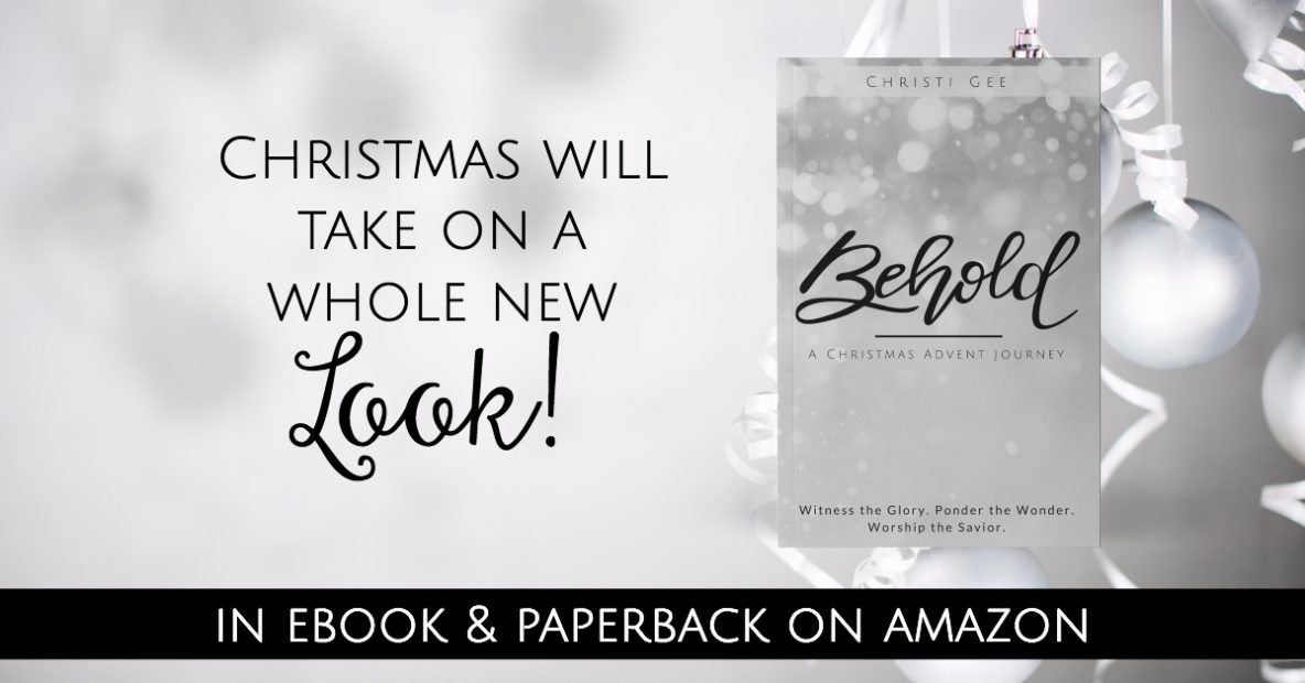 New book BEHOLD just released on Amazon for Christmas Advent