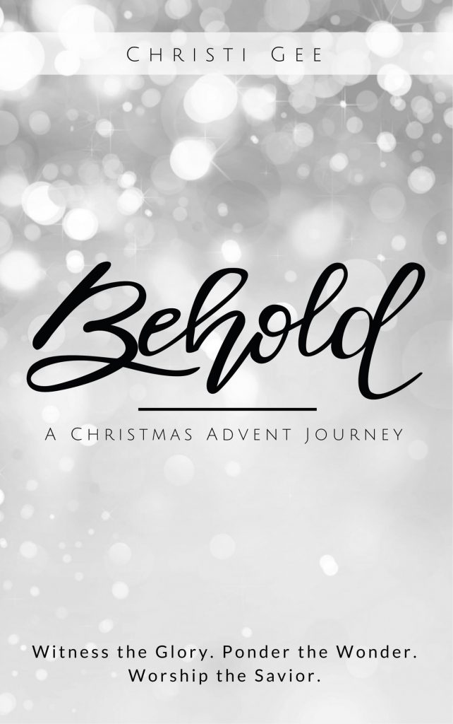 New book releasing for Christmas Advent. Behold by Christi Gee corresponds to the artwork by She Sees Truth