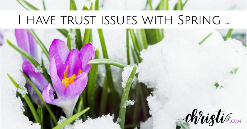 Trust issues with spring -- when it's winter in your soul